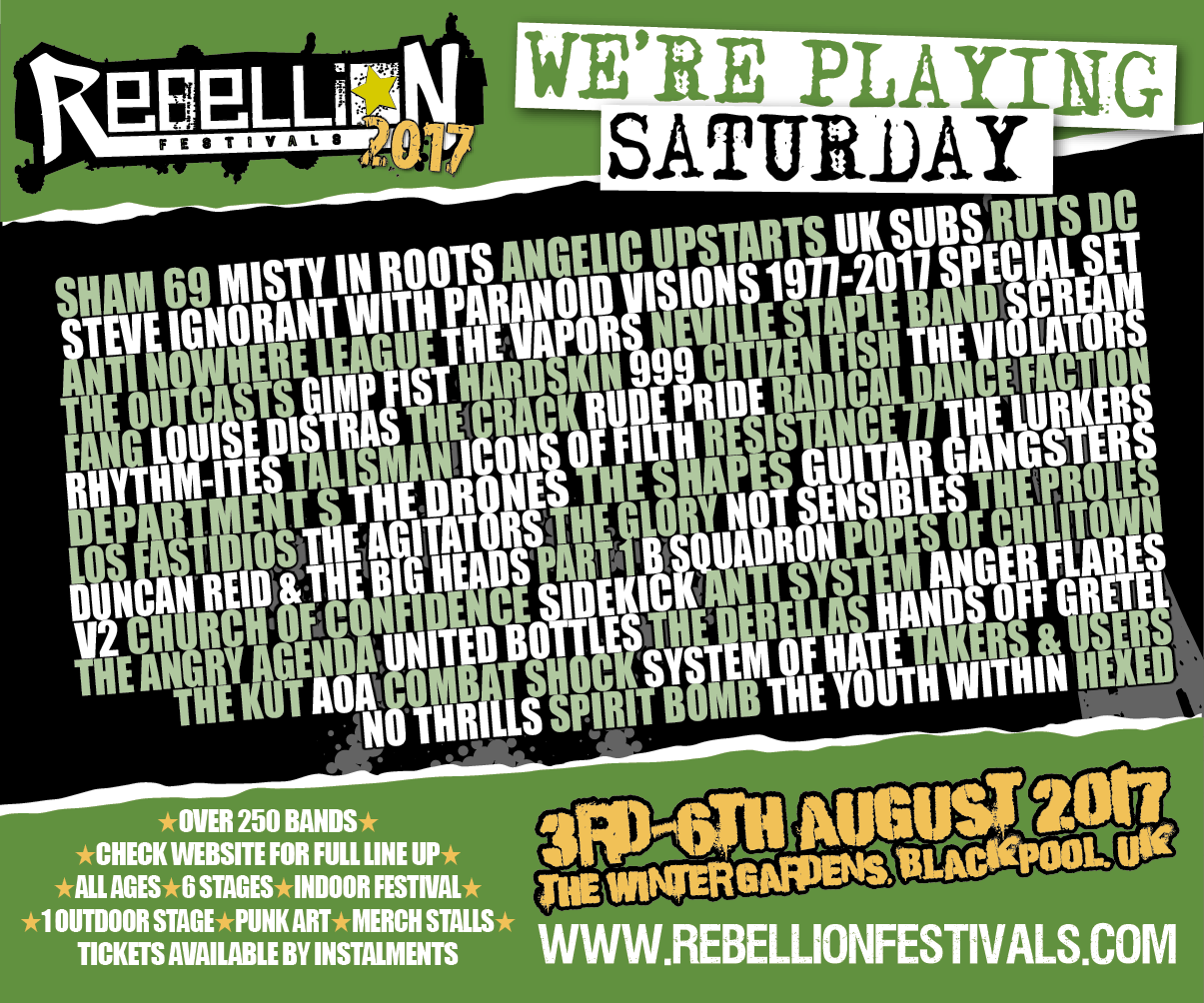 Rebellion Festival 2017 Flyer